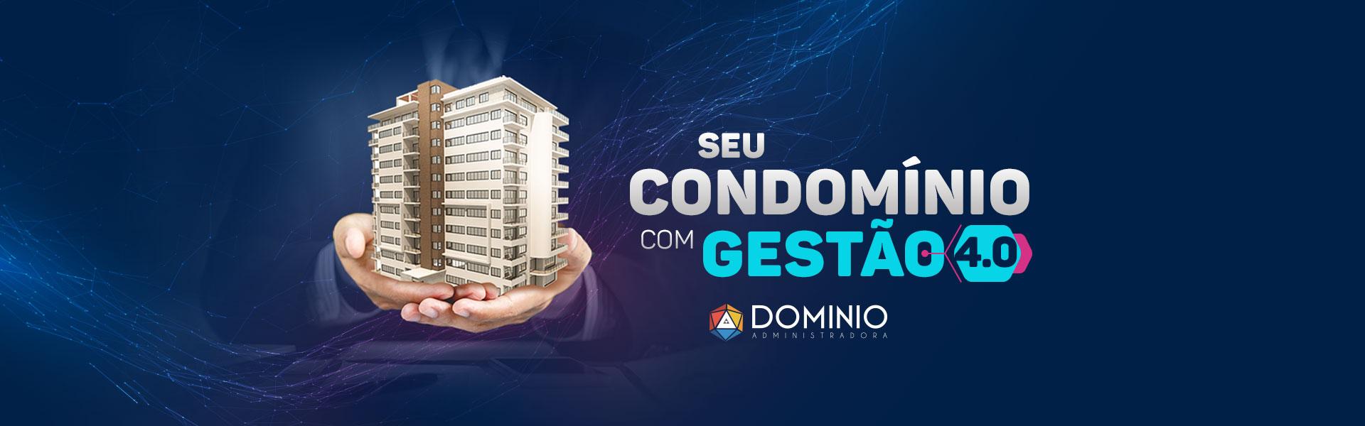 Banner Gestão de Condomínios 4.0 Domínio Administradora