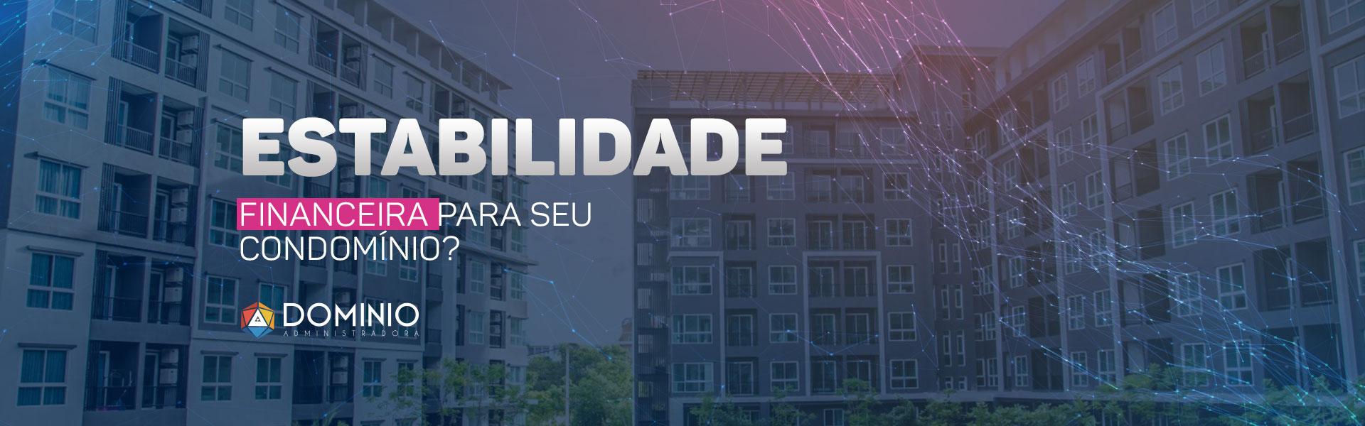 Banner estabilidade financeira para gestão de condomínios